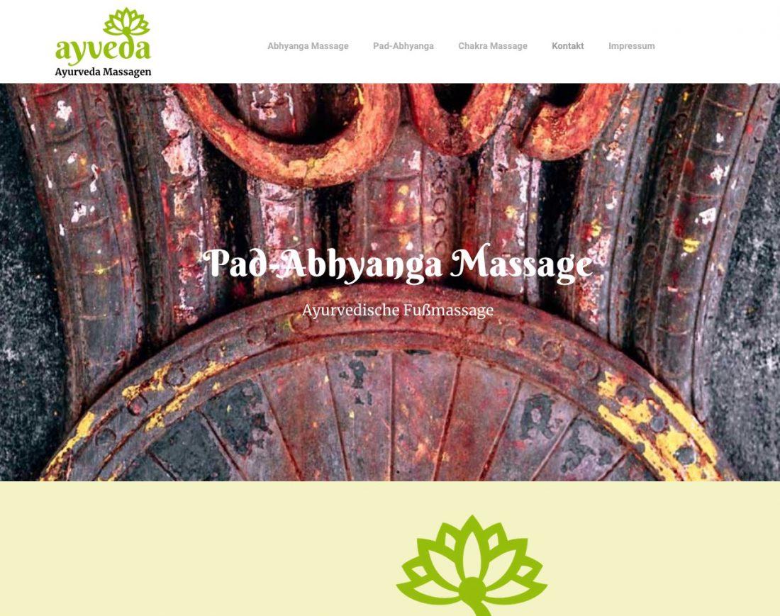 Ayveda Webseite