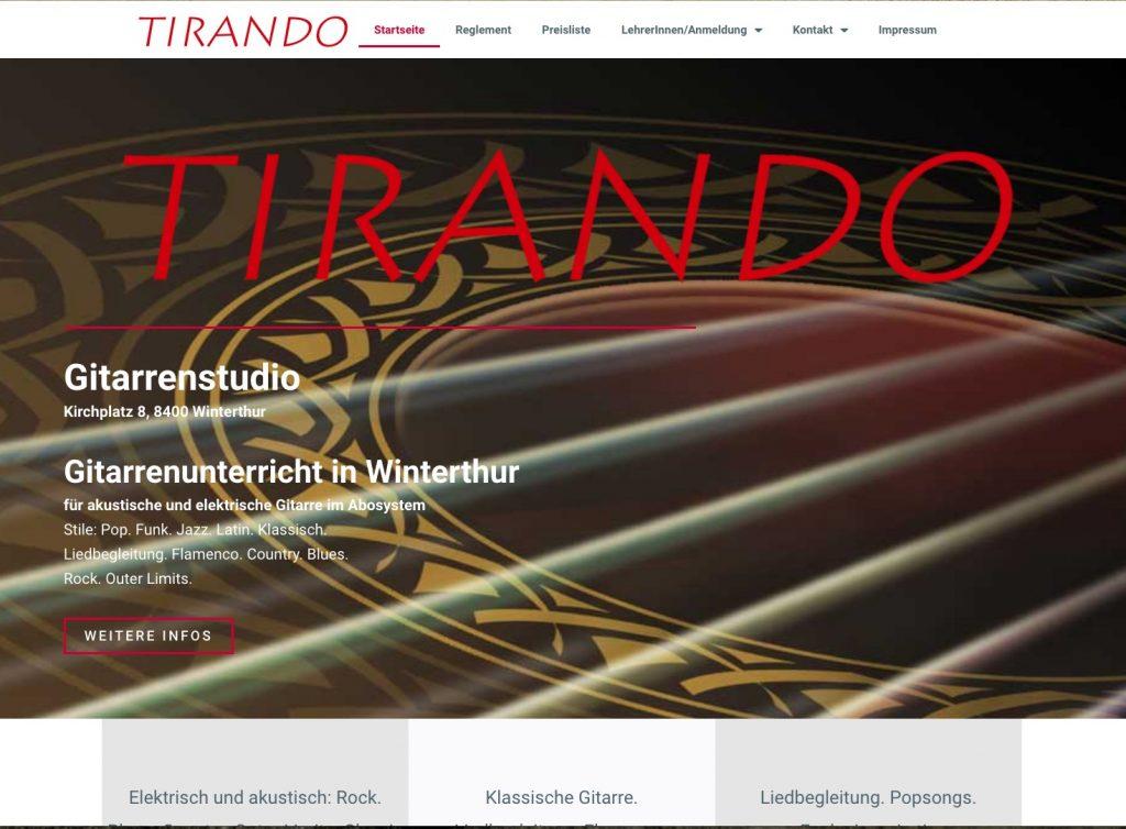 Tiranda.ch Webseite